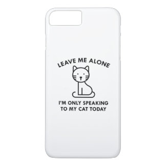 Only Speaking To My Cat iPhone 7 Plus Case