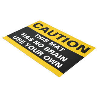 Only Stripes yellow + your backgr. & caution ideas Doormat