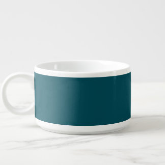Only teal solid color chili bowl