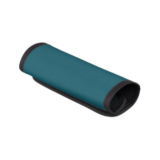 Only teal solid color luggage handle wrap