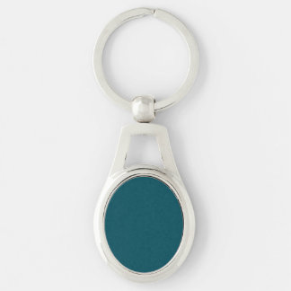 Only teal solid color keychain