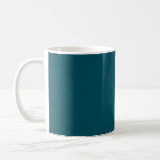 Only teal solid color mugs