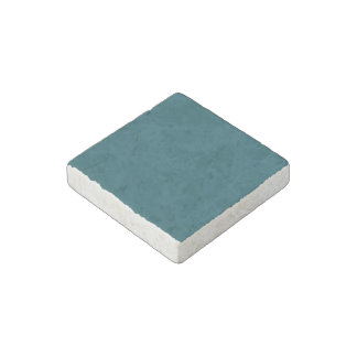 Only teal solid color stone magnet