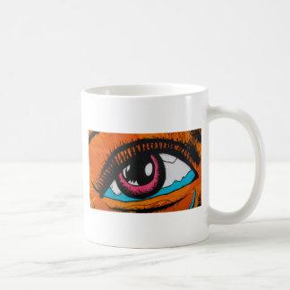 Only the eyes can tell basic white mug