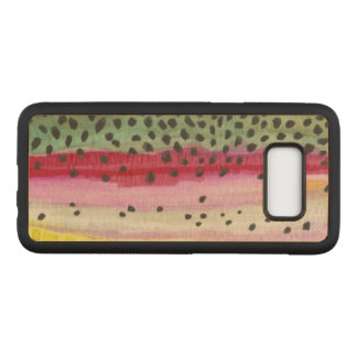 Only the Skin of the Beautiful Rainbow Trout Carved Samsung Galaxy S8 Case