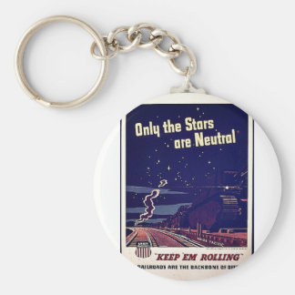 Only The Stars Are Neutral Keychain