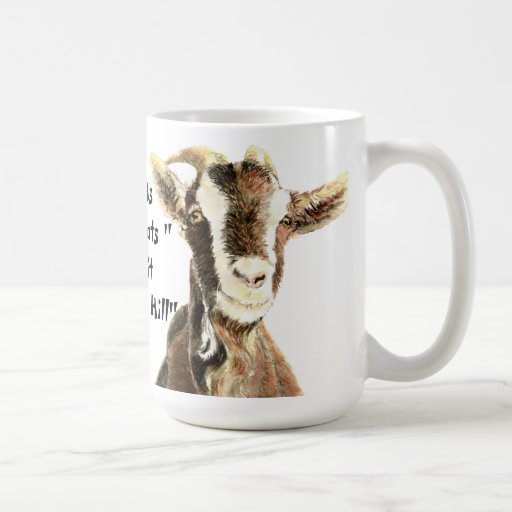 Only Us Old Goats make it Over the Hill Birthday Mugs