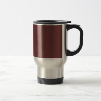 Only warm burgundy solid color coffee mug
