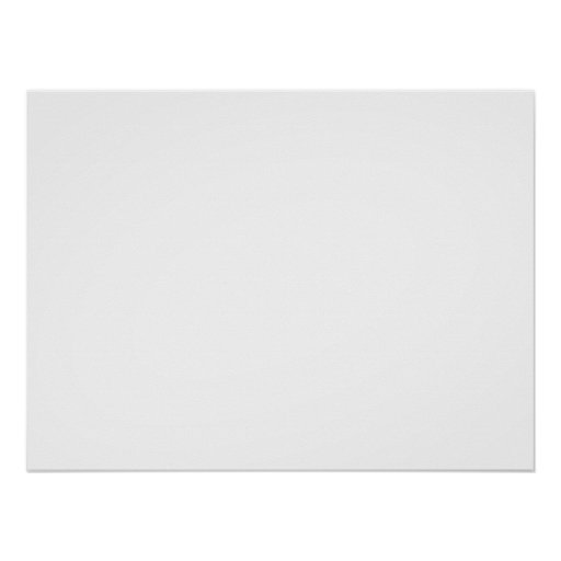 Only white modern solid colour OSCB26 Poster