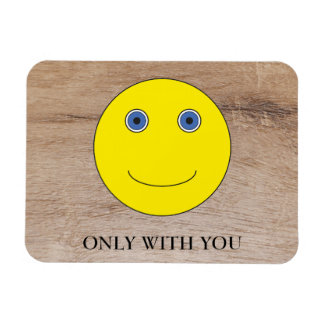 Only with you rectangular photo magnet