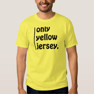only yellow jersey shirts