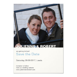 Only You | Modern Photo Save the Date 13 Cm X 18 Cm Invitation Card