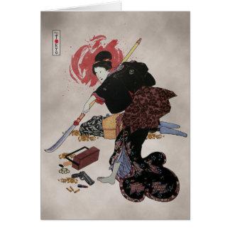 Onna-Bugeisha Ishi-jo Card