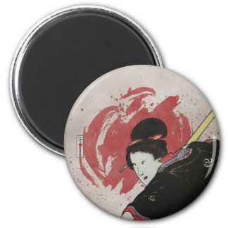Onna-Bugeisha Ishi-jo Fridge Magnets