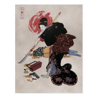 Onna-Bugeisha Ishi-jo Postcard