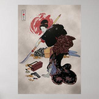 Onna-Bugeisha Ishi-jo Print