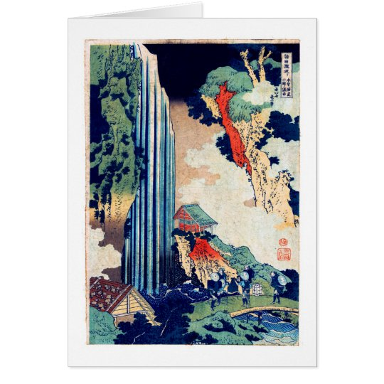 Ono Falls Hokusai Japanese Fine Art Note Card