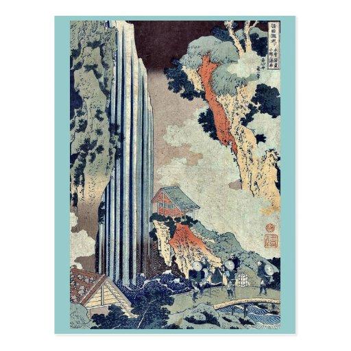 Ono Falls on the Kisokaido by Katsushika, Hokusai Postcard