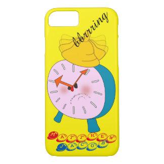 Onomatopoeia word bbrrring thinking alarm clock iPhone 7 case