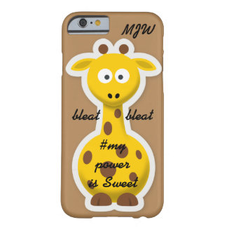 Onomatopoeia word bleat thinking giraffe barely there iPhone 6 case