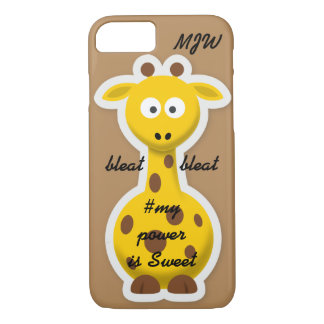 Onomatopoeia word bleat thinking giraffe iPhone 7 case