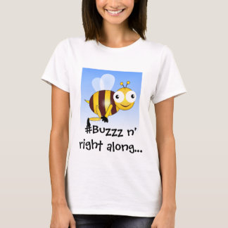 Onomatopoeia word buzzz, noise for bees T-Shirt
