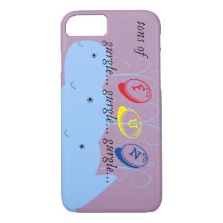 Onomatopoeia word gurgle thinking whales iPhone 7 case