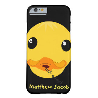 Onomatopoeia word quack thinking duck barely there iPhone 6 case