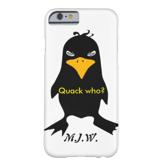 Onomatopoeia word quack thinking duck bird barely there iPhone 6 case