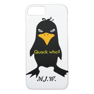 Onomatopoeia word quack thinking duck bird iPhone 7 case