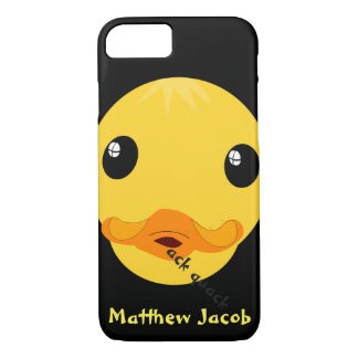 Onomatopoeia word quack thinking duck iPhone 7 case