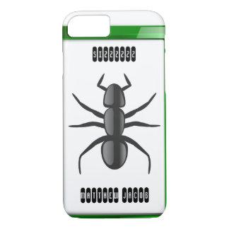 Onomatopoeia word sizzzzzz thinking ant sounds iPhone 7 case
