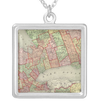 Ontario 4 silver plated necklace