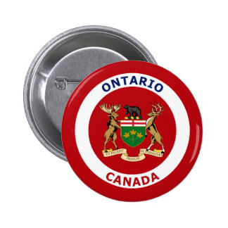 ONTARIO, CANADA 6 CM ROUND BADGE