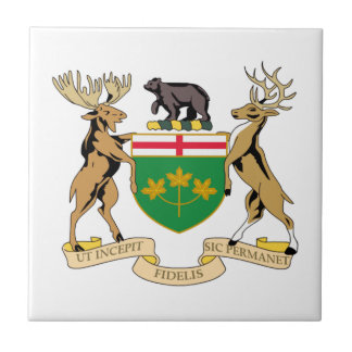 Ontario (Canada) Coat of Arms Small Square Tile