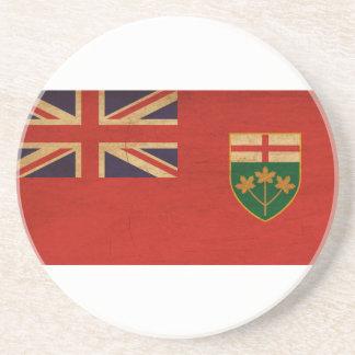 Ontario Flag Beverage Coasters