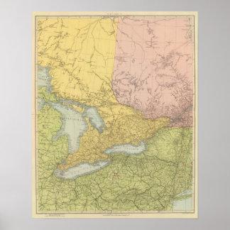 Ontario, Quebec Poster