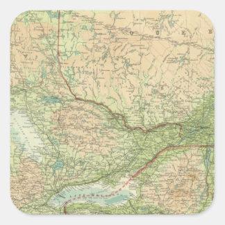 Ontario & Quebec Square Sticker