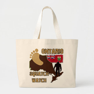 Ontario Squatch Watch Large Tote Bag