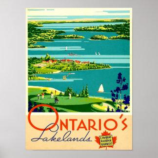 Ontario Vintage Travel Poster