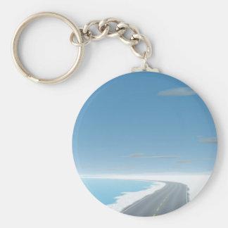 OnTheRoadAgain - Ice Road Basic Round Button Key Ring