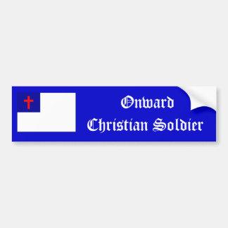 Onward Christian Soldier sticker Bumper Sticker