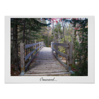 Onward wood bridge poster