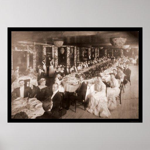Onwentsia Ball Chicago Photo 1905 Poster