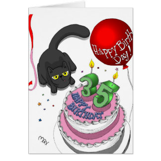 Onyx 35th Birthday Card