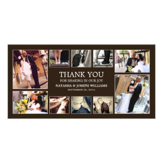 ONYX COLLAGE | WEDDING THANK YOU CARD CUSTOM PHOTO CARD