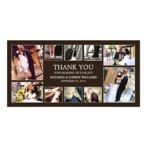ONYX COLLAGE | WEDDING THANK YOU CARD CUSTOM PHOTO CARD