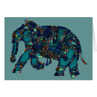 Onyx Elephant Greeting Card