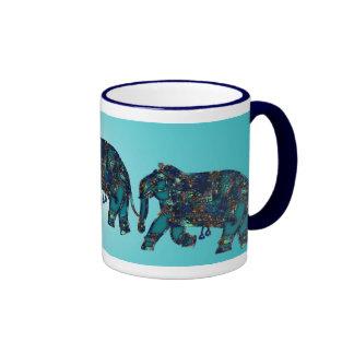 Onyx Elephant Ringer Coffee Mug
