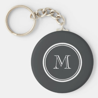 Onyx High End Colored Personalized Basic Round Button Key Ring